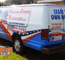 American Dream Van Side Back