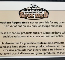Southern Aggregates Sign