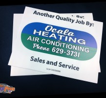 Ocala Heating and Air  Yard Signs