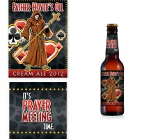 Father Hoyles Beer Label