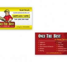 Only The Best Builders Business Cards