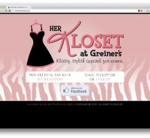 Her Kloset Website Design