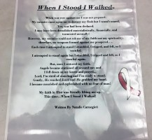 """When I Stood, I Walked.."" Banner"