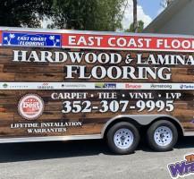 East Coast Flooring Trailer Wrap