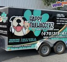 Happy Tailwaggerz Trailer Wrap