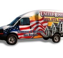 United Roofing Van