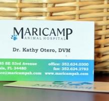 Maricamp Animal Hospital Business Cards