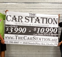 The Car Station Banner