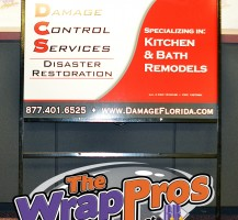 Damage Control Services Max Metal Sign