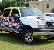 United Roofing Pickup Wrap