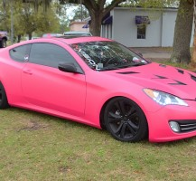Matte Pink Hyundai Genesis Color Change