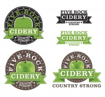 Five Rock Cidery Logo Design with (Multiple Versions)