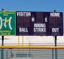 TCHS Baseball Scoreboard