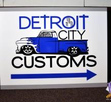 Detroit City Customs Sign
