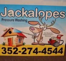 Jackalopes Pressure Washing Sign