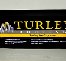 Turley Roofing 3-sided table throw