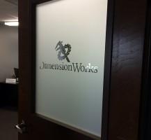 Dimension Works Door (Reverse Weeded Etch-Mark)