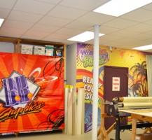 BB Graphics Production Wall