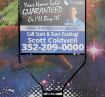 Scott Coldwell 2 Piece Printed Metal Sign