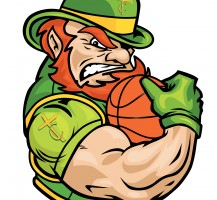 TCHS Leprechaun Basketball Logo