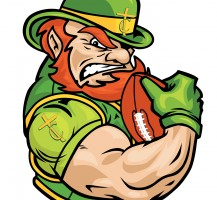 TCHS Leprechaun Football Logo