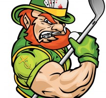 TCHS Leprechaun Golf and Poker Logo