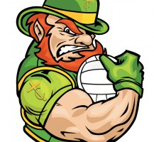 TCHS Leprechaun Volleyball Logo