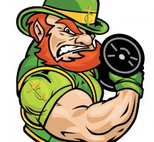 TCHS Leprechaun Weight Lifting Logo