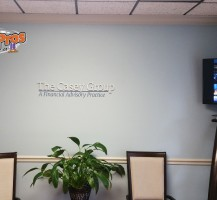 The Casey Group Lobby Graphics