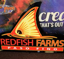 Red Fish Farms Sign