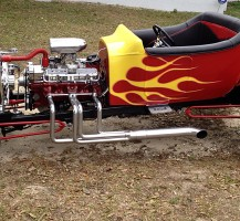 Hotrod with Flames