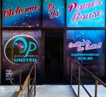 Ocala Power United Window Graphics – Main Entrance