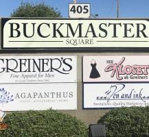 Buckmaster Plaza Signs