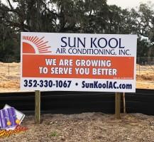 Sun Kool Construction Sign