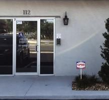 Allen Law Firm Door Lettering