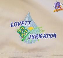 Lovett Irrigation Embroidery
