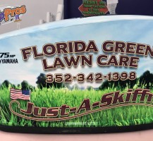 Florida Green Boat Engine Cover