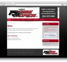 Aarons Equine Express Website