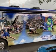 k9 Frisbee Bus Wrap