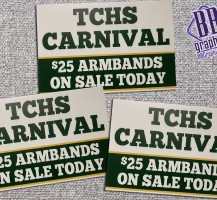Trinity Catholic Carnival Yard Signs