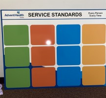 AdventHealth Service Standards Sign