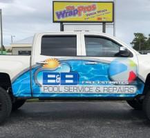 B & B Pools Truck – Side