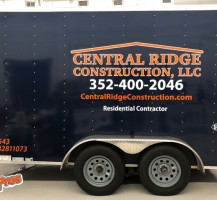 Central Ridge Construction, LLC Trailer – Side