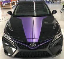 Toyota Camry Purple Stripes