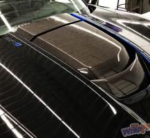 Corvette Blue Details with Carbon Fiber Hood Detail
