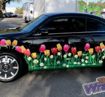 VW Bug Flower Wrap