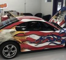 American Flag Mustang