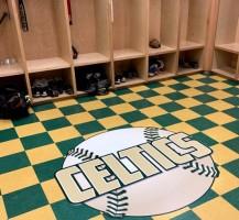 Trinity Catholic Baseball Locker Room Floor Logo