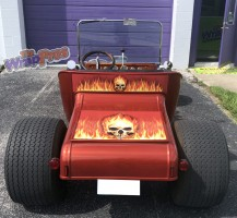 Skull and Flame Hot Rod – Trunk