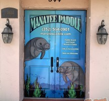 Manatee Paddle Front Doors